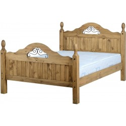 Corona Scroll 4,6 Bed High Foot