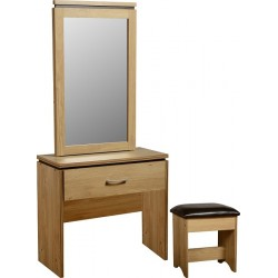 Charles 1 Drawer Dressing Table  Mirror & Stool