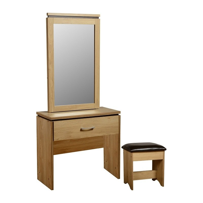 Charles 1 Drawer Dressing Table Mirror Stool