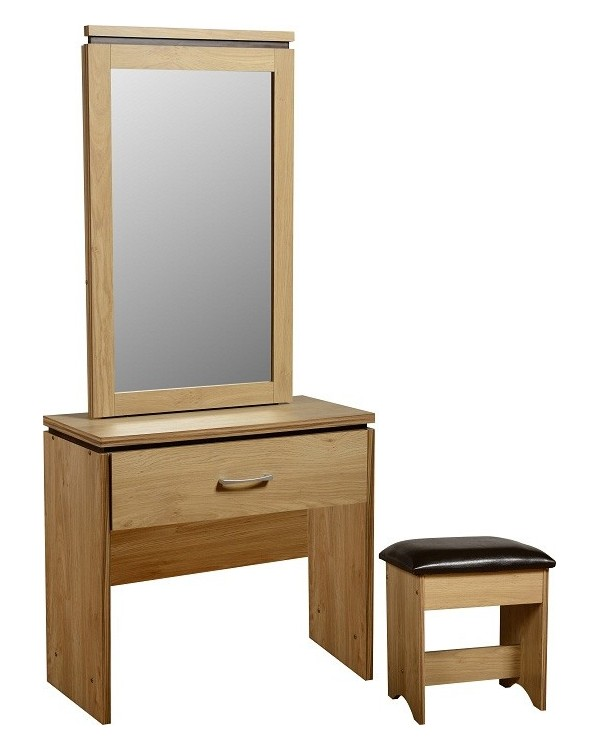 Dressing Table With Mirror And Stool: Charles 1 Drawer Dressing Table Mirror & Stool