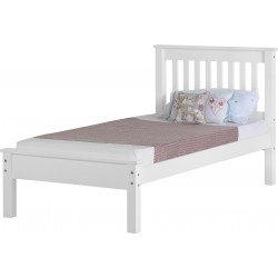 Monaco Low Bed Low Foot End White
