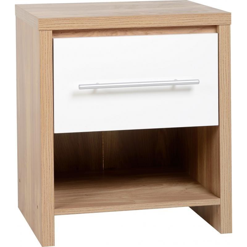 Seville 1 drawer bedside chest