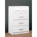 Charles 3+2 Drawer Chest White