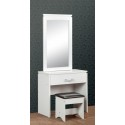 Charles 1 Drawer Dressing Table Set White