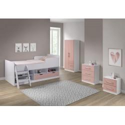 Asper Low Sleeper Bed Pink