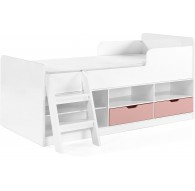 Asper Low Sleeper Bed Pink