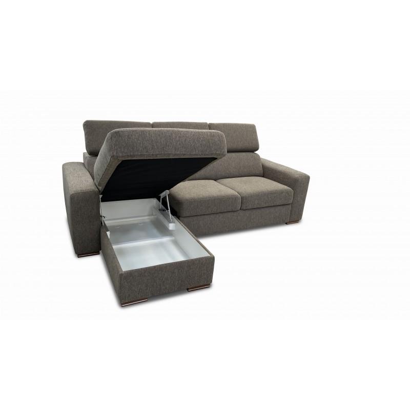Rhino Corner Sofa Bed Brown