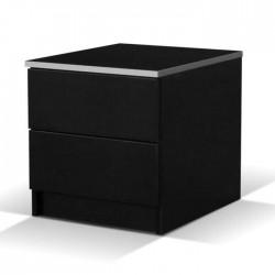 Vita Black Bedside Locker