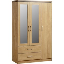 Charles 3 Door 2 Drawer  Wardrobe